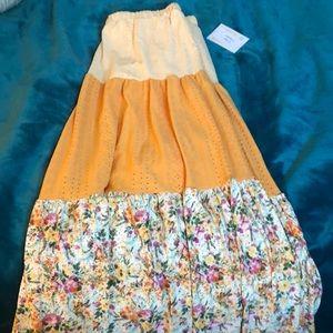 Lularoe Large Poppy Skirt NWT